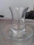 Турецкий стакан для чая 135 ml. - Армуды - Тюльпаны (стакан + блюдечко) - PAŞABAHÇE